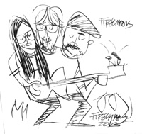 Caricature of the band